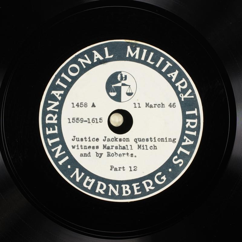 Day 78 International Military Tribunal, Nuremberg (Set A)