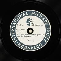 Day 79 International Military Tribunal, Nuremberg (Set A)  Click to enlarge