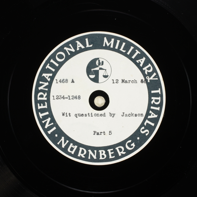 Day 79 International Military Tribunal, Nuremberg (Set A)