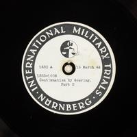 Day 80 International Military Tribunal, Nuremberg (Set A)  Click to enlarge