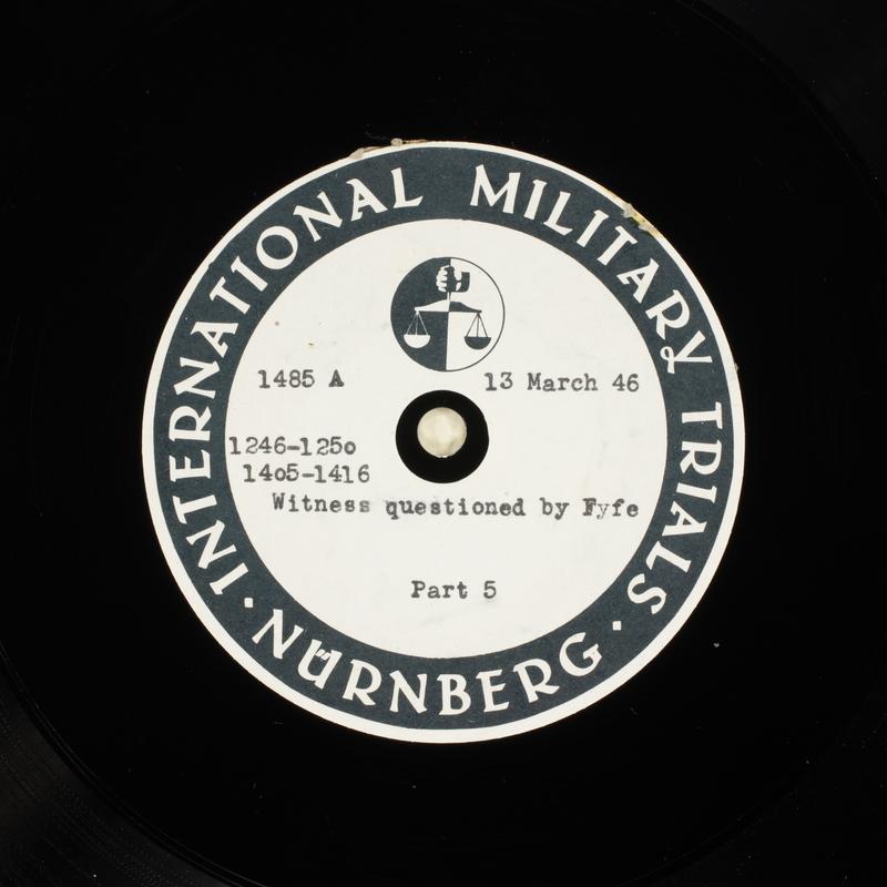 Day 80 International Military Tribunal, Nuremberg (Set A)