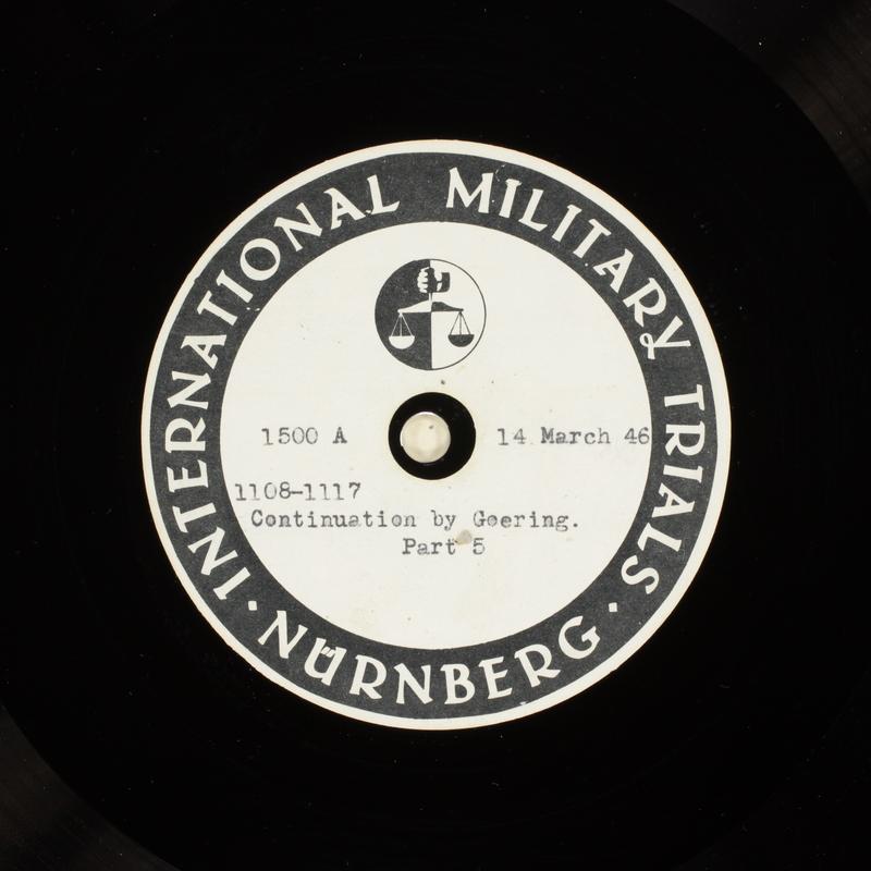 Day 81 International Military Tribunal, Nuremberg (Set A)