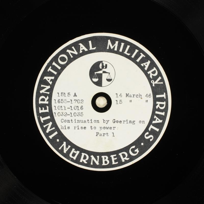 Day 82 International Military Tribunal, Nuremberg (Set A)