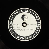 Day 83 International Military Tribunal, Nuremberg (Set A)  Click to enlarge
