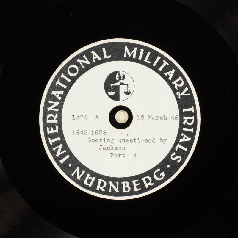 Day 85 International Military Tribunal, Nuremberg (Set A)