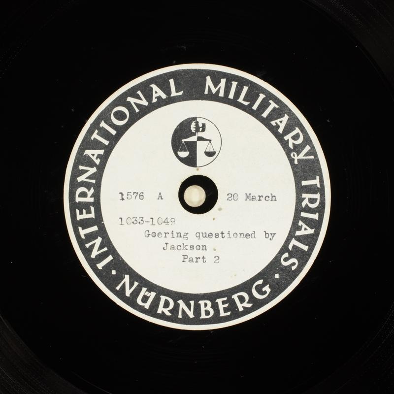 Day 86 International Military Tribunal, Nuremberg (Set A)
