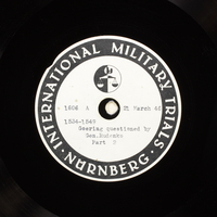 Day 87 International Military Tribunal, Nuremberg (Set A)  Click to enlarge