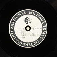 Day 89 International Military Tribunal, Nuremberg (Set A)  Click to enlarge