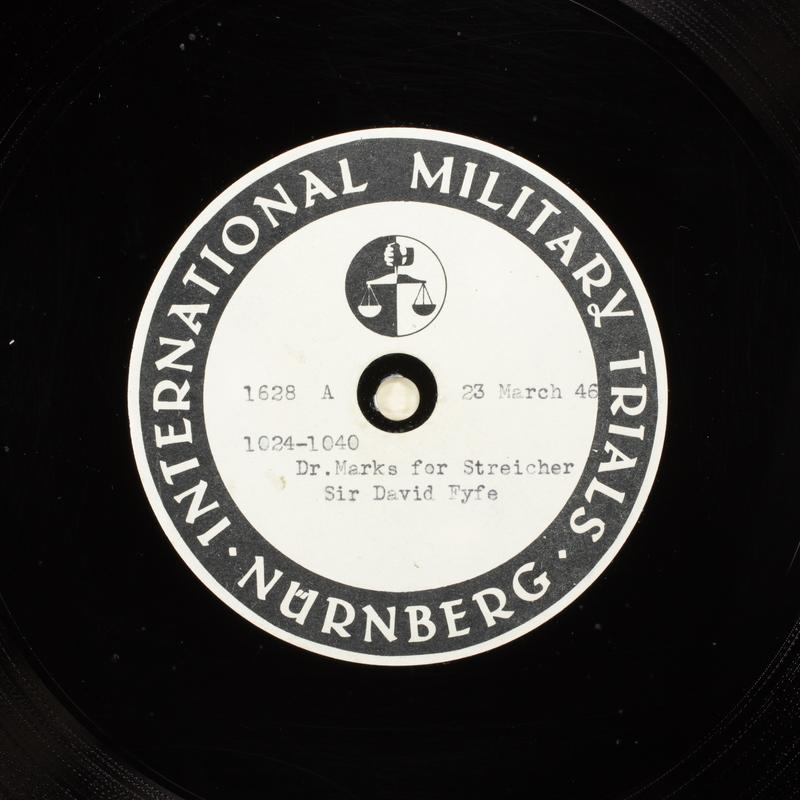 Day 89 International Military Tribunal, Nuremberg (Set A)
