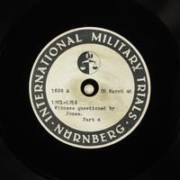 Day 90 International Military Tribunal, Nuremberg (Set A)  Click to enlarge