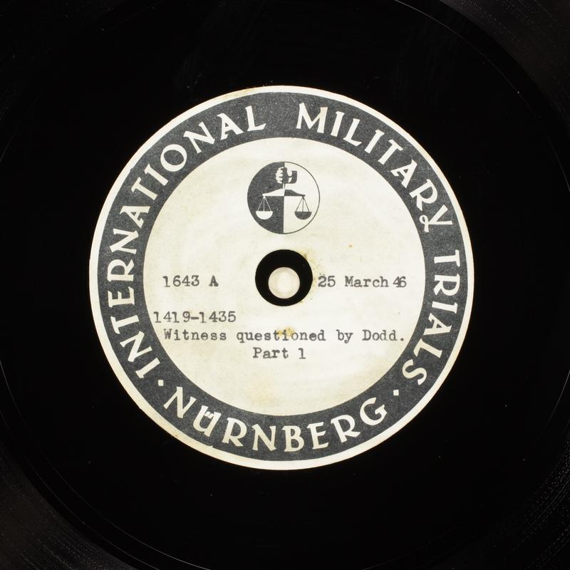 Day 90 International Military Tribunal, Nuremberg (Set A)