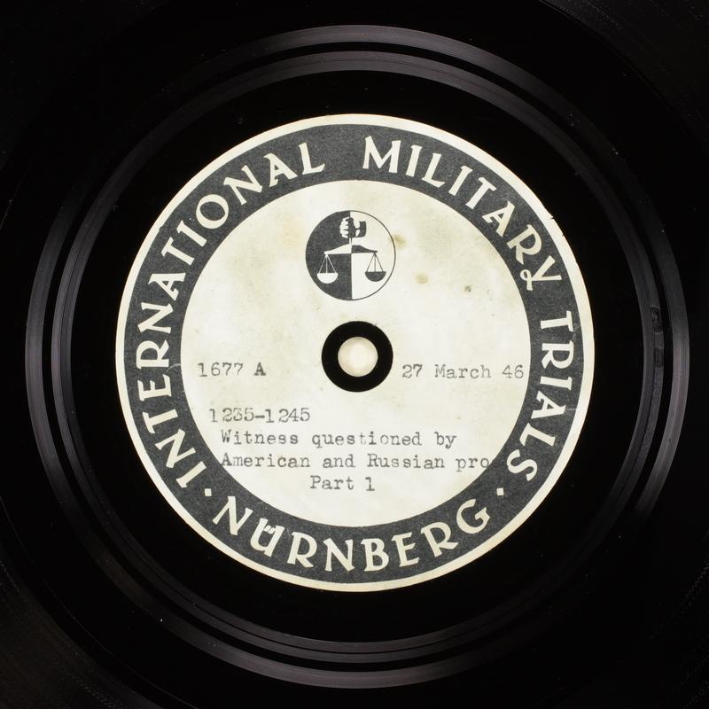 Day 92 International Military Tribunal, Nuremberg (Set A)