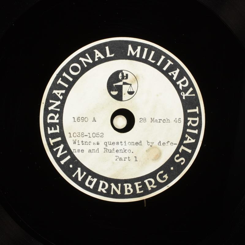 Day 93 International Military Tribunal, Nuremberg (Set A)