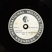 Day 93 International Military Tribunal, Nuremberg (Set A)  Click to enlarge
