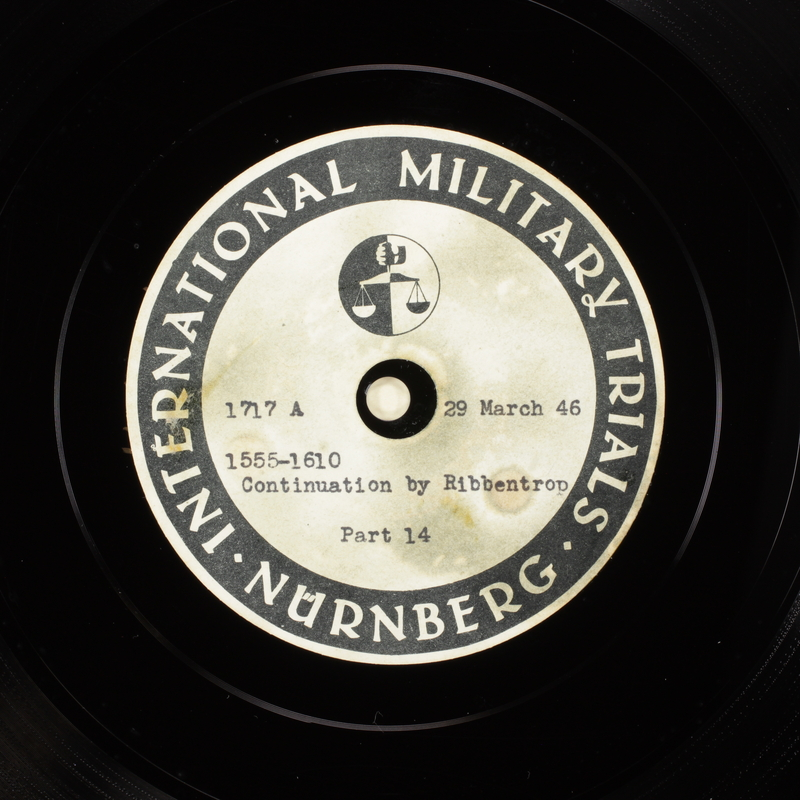 Day 94 International Military Tribunal, Nuremberg (Set A)