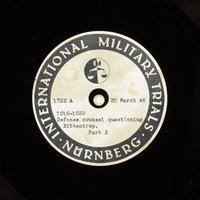 Day 95 International Military Tribunal, Nuremberg (Set A)  Click to enlarge