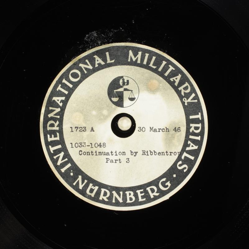 Day 95 International Military Tribunal, Nuremberg (Set A)