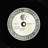 Day 97 International Military Tribunal, Nuremberg (Set A)  Click to enlarge
