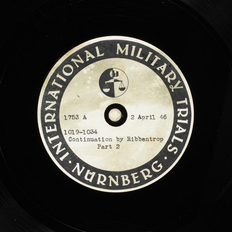 Day 97 International Military Tribunal, Nuremberg (Set A)