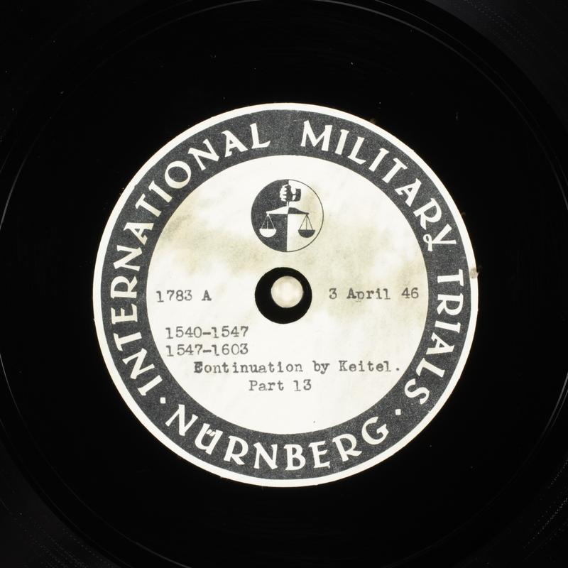 Day 98 International Military Tribunal, Nuremberg (Set A)