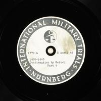 Day 98 International Military Tribunal, Nuremberg (Set A)  Click to enlarge