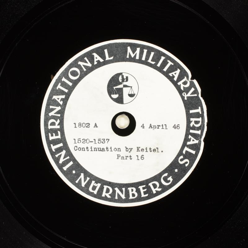 Day 99 International Military Tribunal, Nuremberg (Set A)