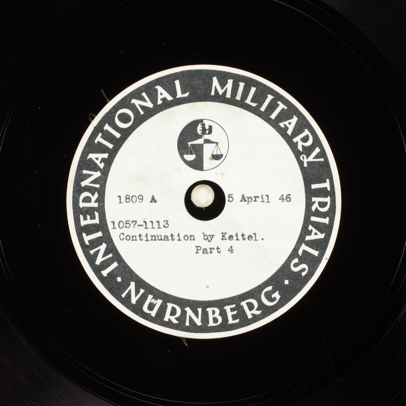 Day 100 International Military Tribunal, Nuremberg (Set A)