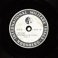 Day 101 International Military Tribunal, Nuremberg (Set A)  Click to enlarge
