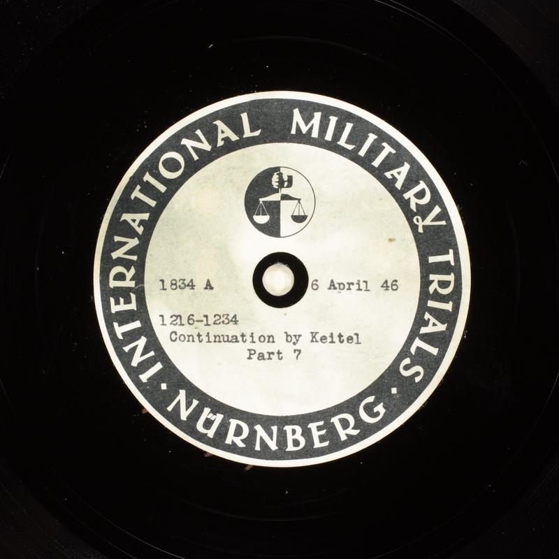 Day 101 International Military Tribunal, Nuremberg (Set A)