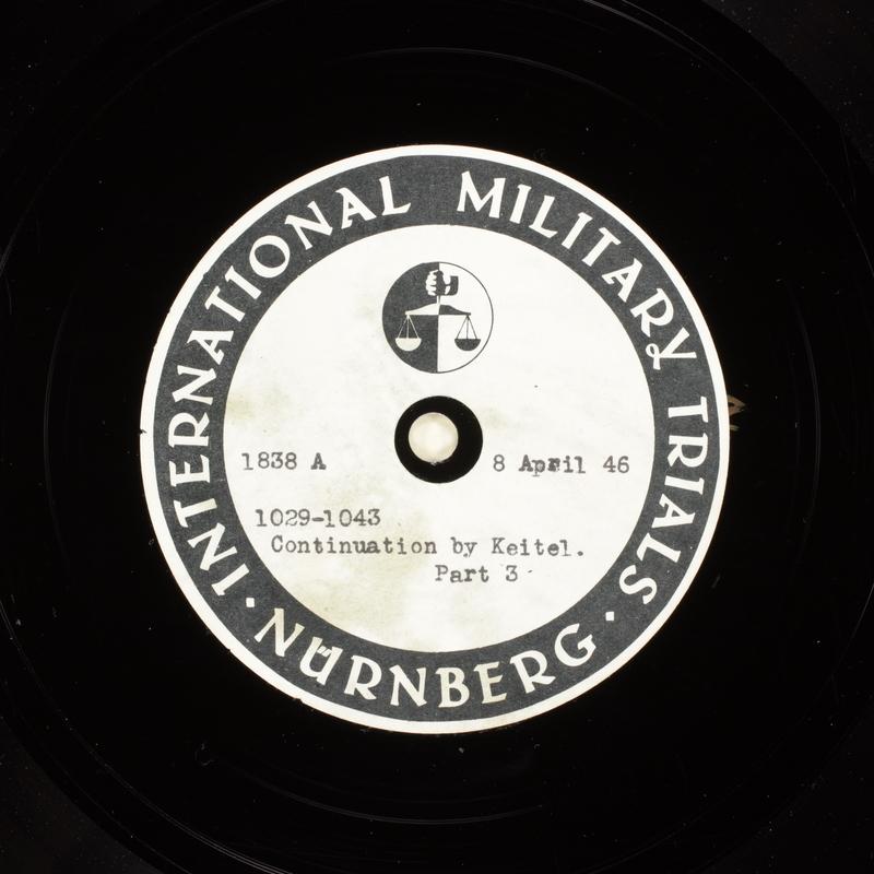 Day 102 International Military Tribunal, Nuremberg (Set A)