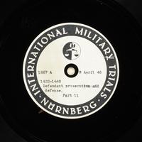 Day 103 International Military Tribunal, Nuremberg (Set A)  Click to enlarge