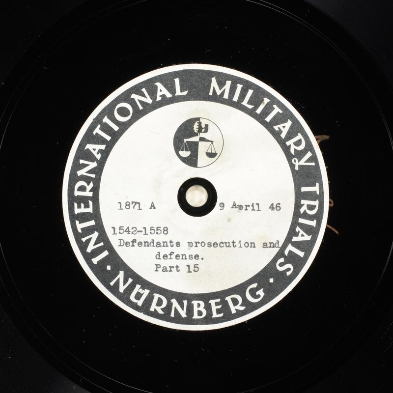 Day 103 International Military Tribunal, Nuremberg (Set A)