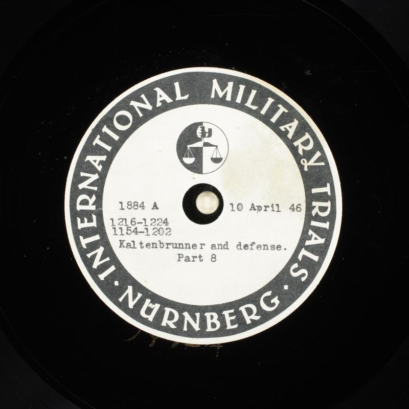 Day 104 International Military Tribunal, Nuremberg (Set A)