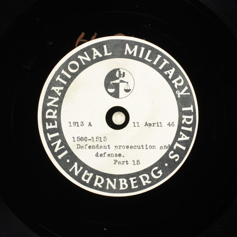 Day 105 International Military Tribunal, Nuremberg (Set A)