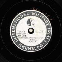 Day 105 International Military Tribunal, Nuremberg (Set A)  Click to enlarge