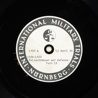 Day 106 International Military Tribunal, Nuremberg (Set A)  Click to enlarge