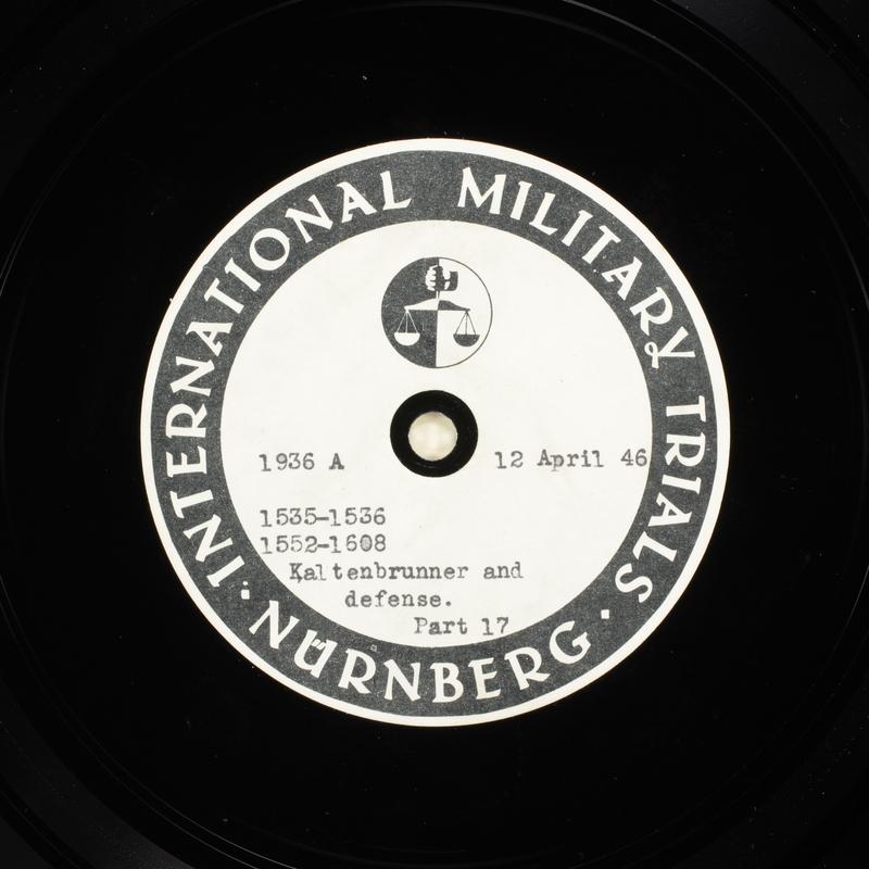 Day 106 International Military Tribunal, Nuremberg (Set A)