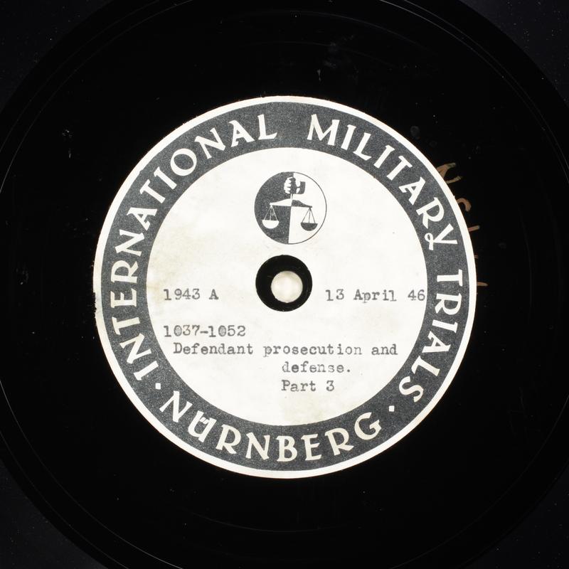 Day 107 International Military Tribunal, Nuremberg (Set A)