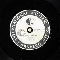 Day 108 International Military Tribunal, Nuremberg (Set A)  Click to enlarge