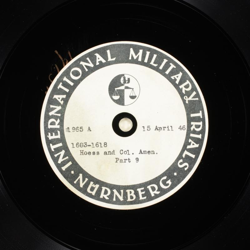 Day 108 International Military Tribunal, Nuremberg (Set A)