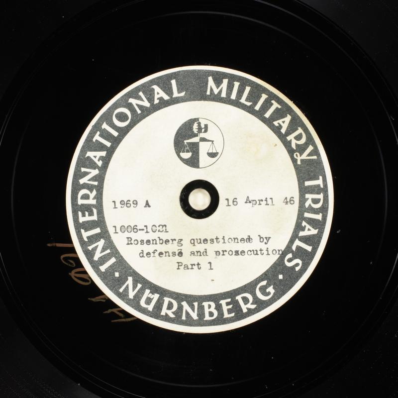 Day 109 International Military Tribunal, Nuremberg (Set A)