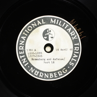Day 109 International Military Tribunal, Nuremberg (Set A)  Click to enlarge