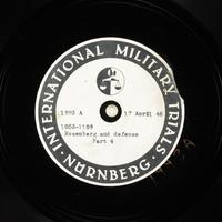 Day 110 International Military Tribunal, Nuremberg (Set A)  Click to enlarge