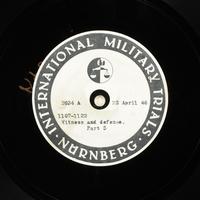 Day 112 International Military Tribunal, Nuremberg (Set A)  Click to enlarge