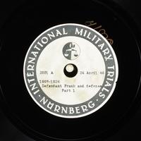 Day 113 International Military Tribunal, Nuremberg (Set A)  Click to enlarge