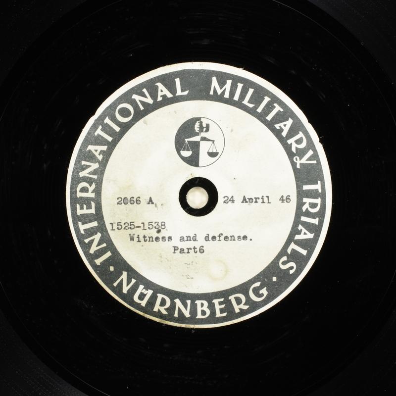 Day 113 International Military Tribunal, Nuremberg (Set A)