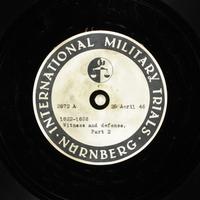 Day 114 International Military Tribunal, Nuremberg (Set A)  Click to enlarge