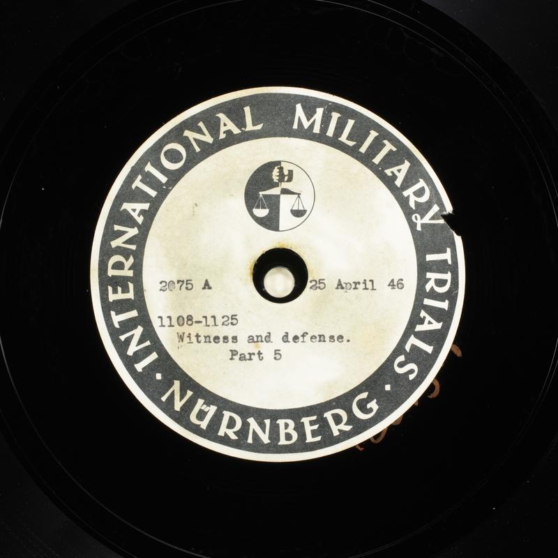 Day 114 International Military Tribunal, Nuremberg (Set A)