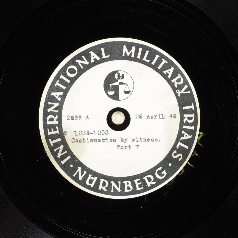 Day 115 International Military Tribunal, Nuremberg (Set A)