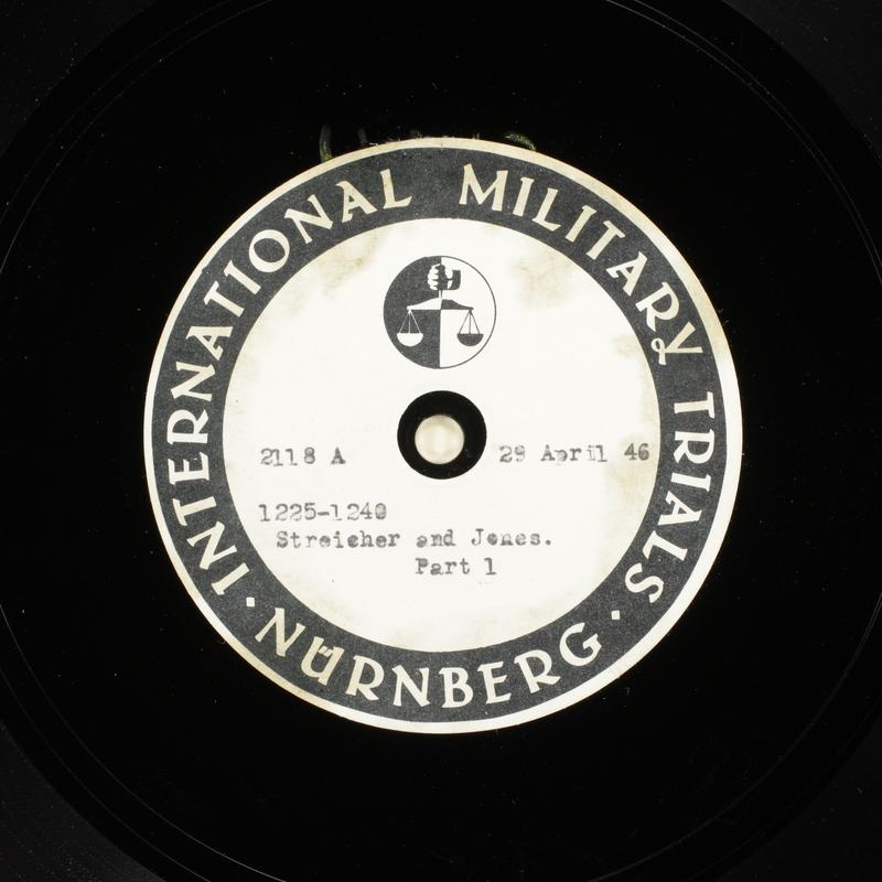 Day 116 International Military Tribunal, Nuremberg (Set A)